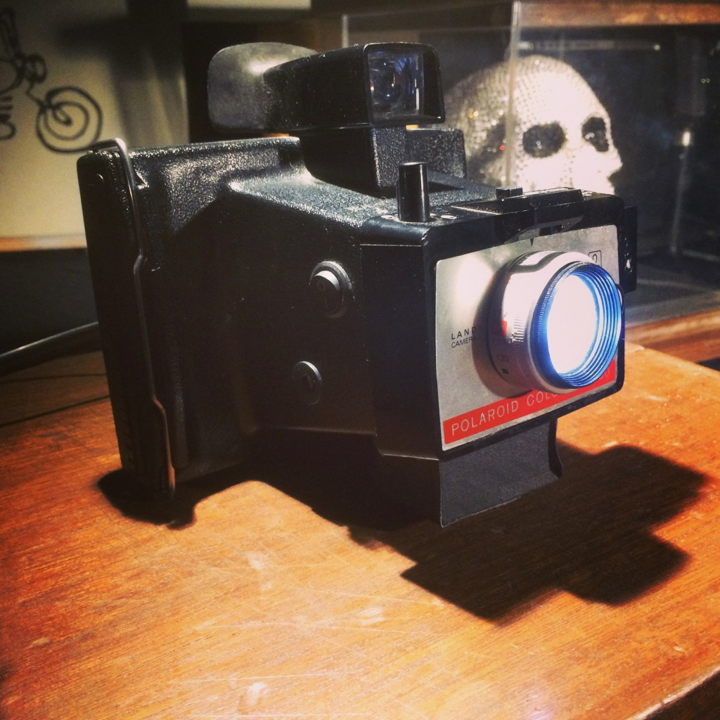 the first colour polaroid camera, repurposed to give back the light!